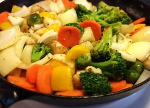 Wokade grönsaker